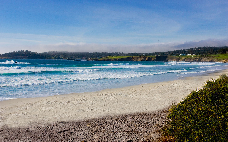 Pristine beaches in Carmel, CA