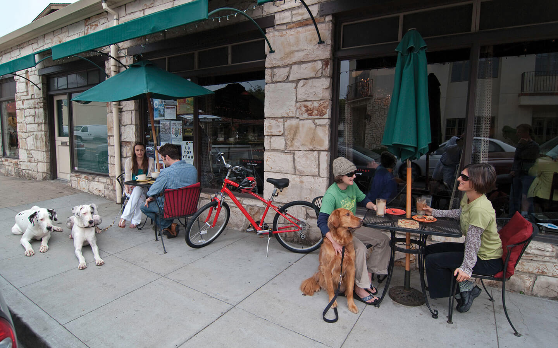 A charming pet-friendly restaurant in downtown Carmel, CA