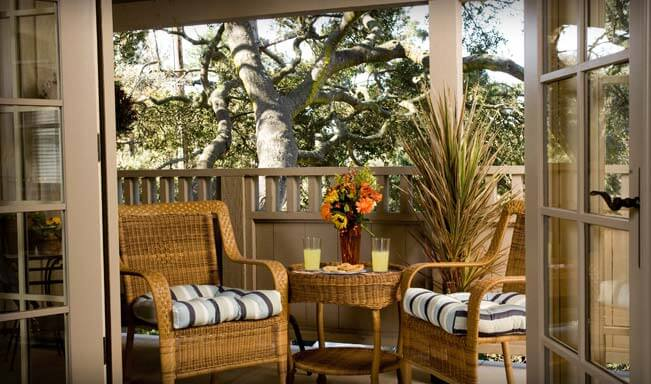 Carmel CA Lodging Balcony
