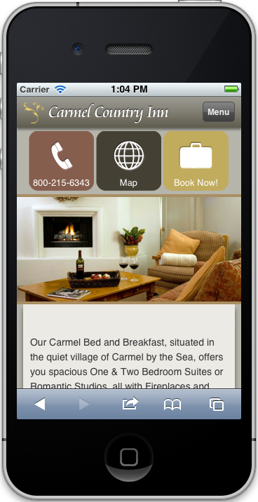 Bed and Breakfast in Carmel CA