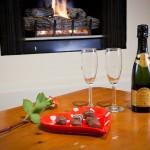 Valentine's Day 2013 Chocolates, Champagne, Fireplace