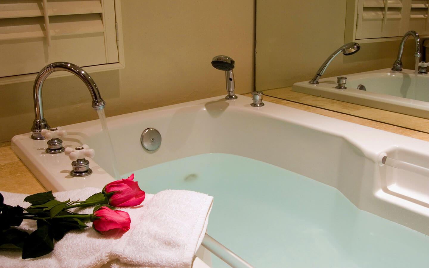 relax in a romantic jacuzzi tub at our Carmel bed and breakfast