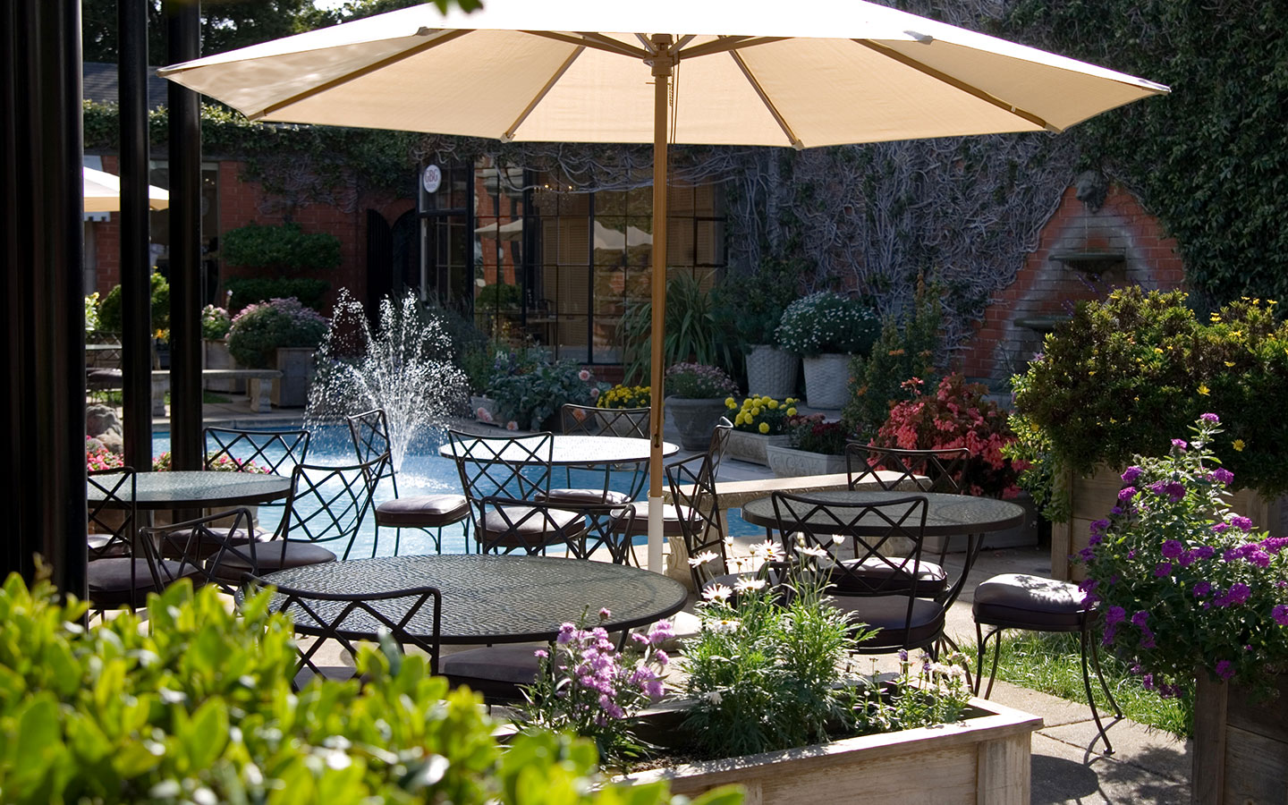 Mild temperatures year-round make patio seating a must!