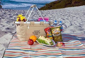 Carmel Country Inn picnic on the beach