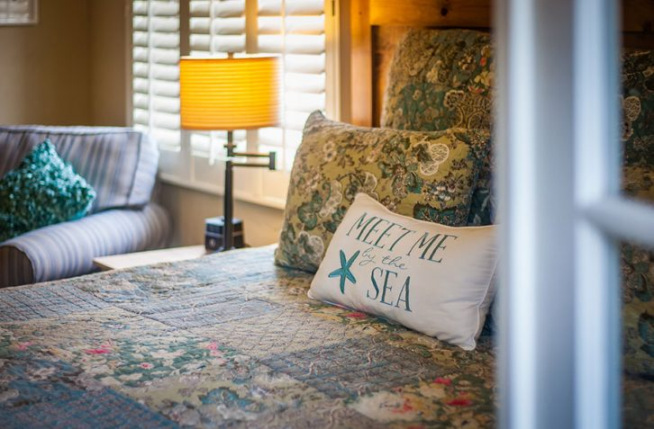Each room is uniquely decorated at our charming Carmel bed and breakfast