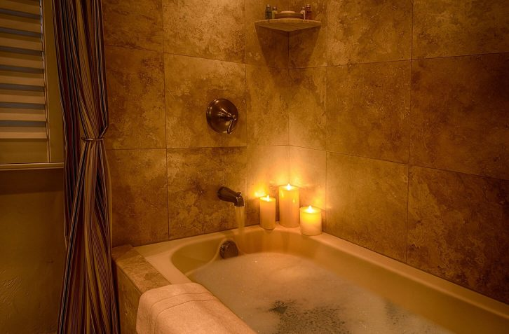 After a day exploring, unwind with a bubble bath