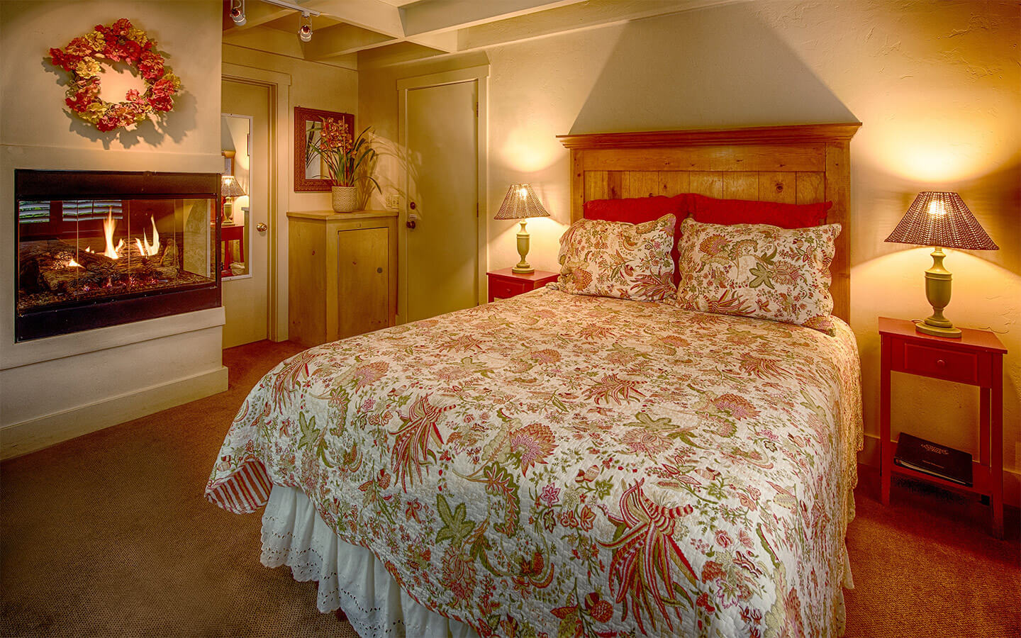 A charming guest room at our bed and breakfast in Carmel