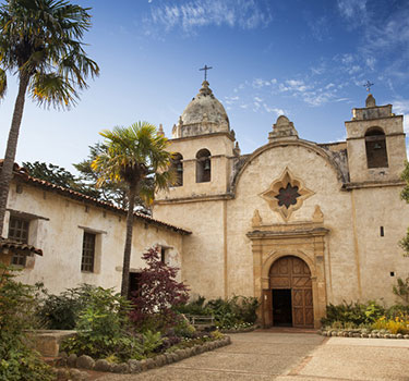 Exterior of Carmel Mission