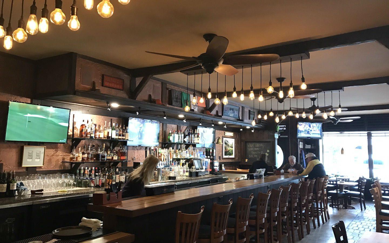 The bar at a local pub restaurant