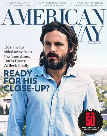 American Way magazine cover from December 2016