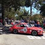Cars on Ocean Avenue at Concours on the Avenue in Carmel, CA