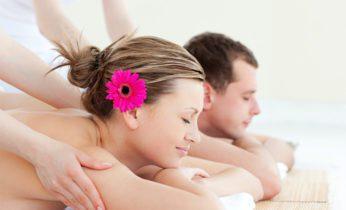 Couples receiving a massage