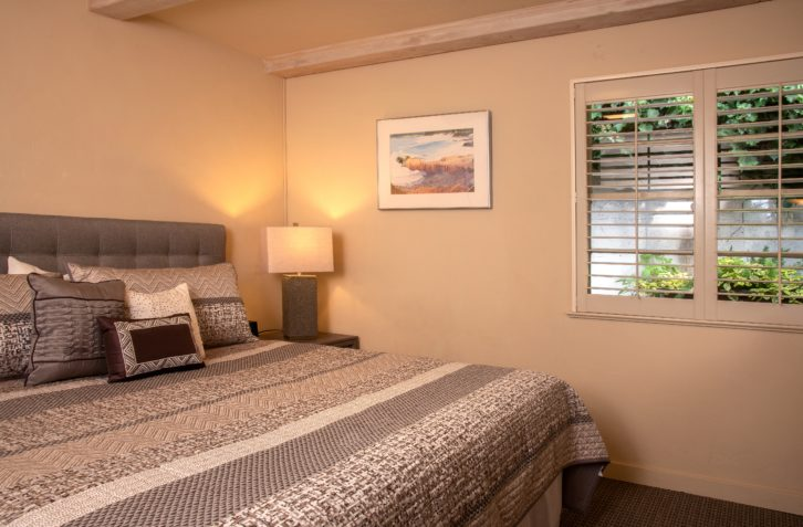 Bedroom in Carmel with bed