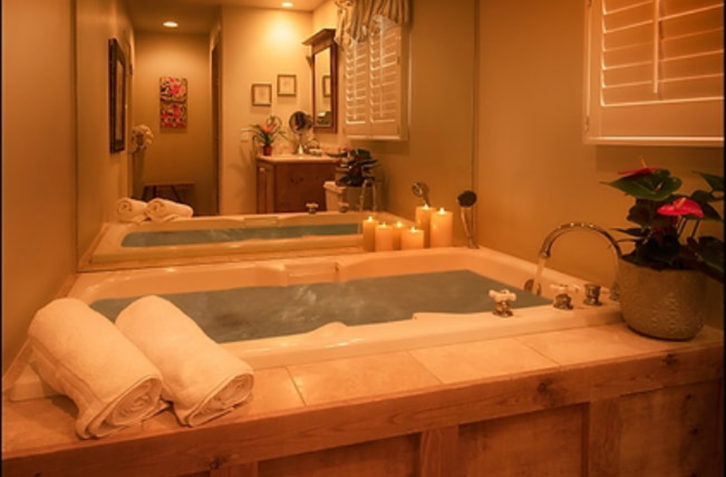 Spacious bathrooms add a feeling of luxury at our Carmel bed and breakfast